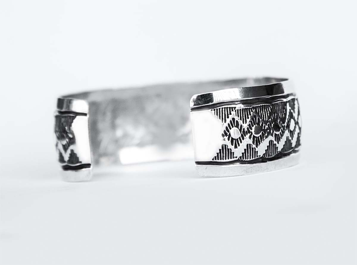 画像2: ナバホ スターリングシルバー ハンドメイド ブレスレット/Navajo Sterling Silver Bracelet