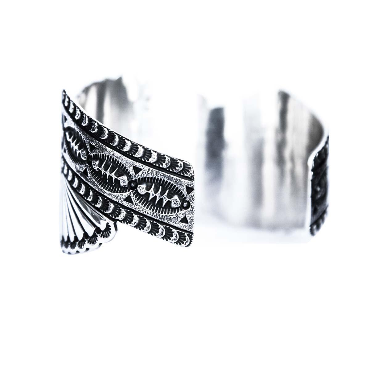 画像3: ターコイズ&スターリングシルバー ハンドメイド ブレスレット/Navajo Sterling Silver Bracelet
