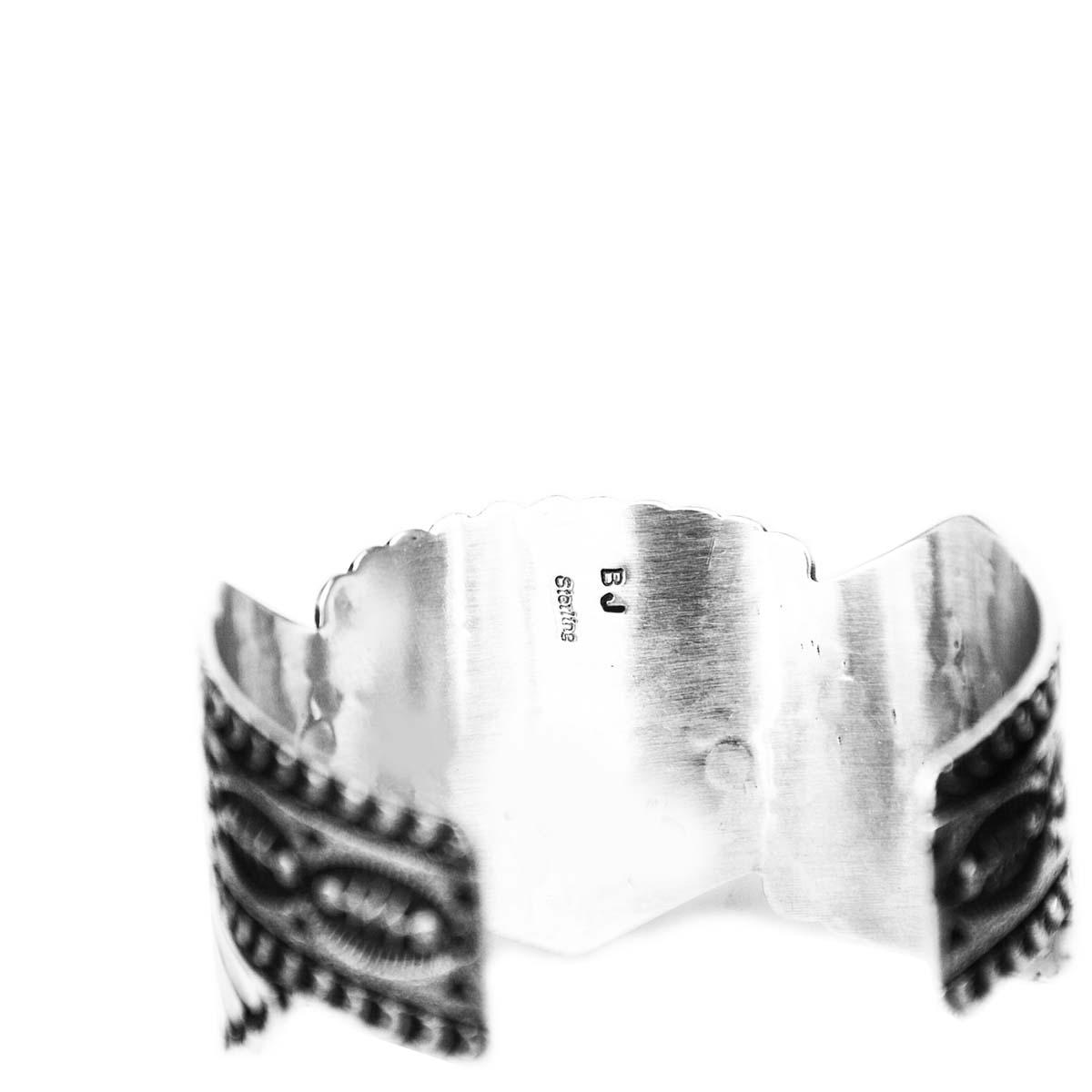 画像4: ターコイズ&スターリングシルバー ハンドメイド ブレスレット/Navajo Sterling Silver Bracelet