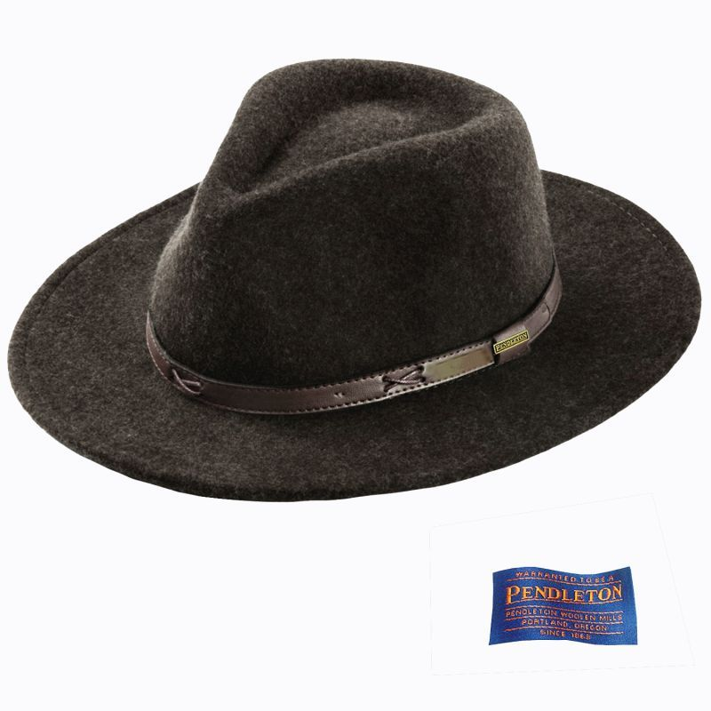 画像1: ペンドルトン クラッシャブル ウールフェルト ハット(ブラウンミックス)M/Pendleton Crushable Wool Hat(Brown Mix) (1)