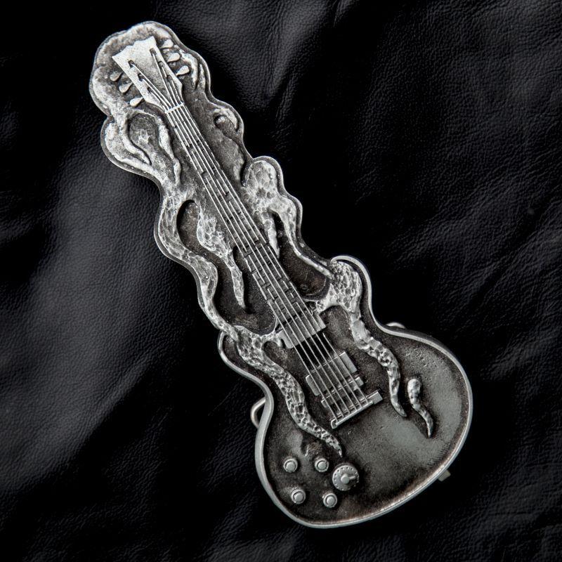 画像1: ギター バックル/Belt Buckle(Electric Guitar)