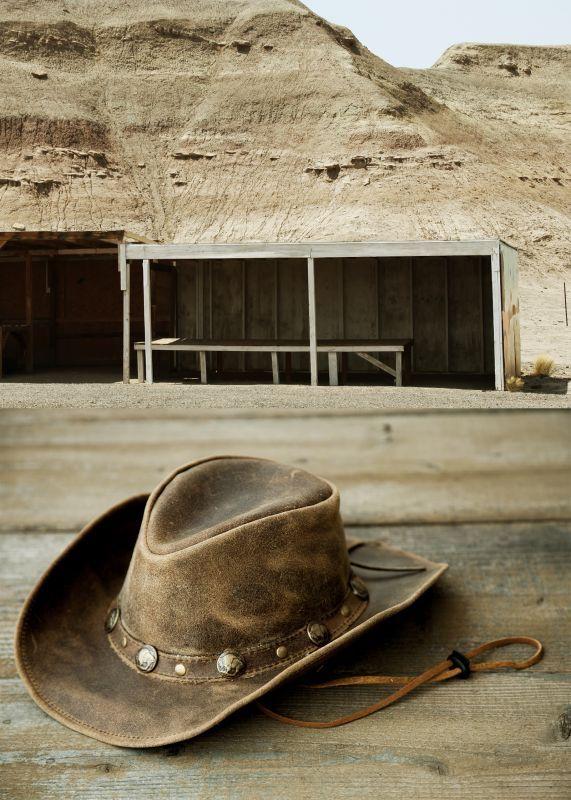 画像3: バッファロー コンチョ レザー ハット・あご紐つき(ブラウン)/Leather Hat(Brown)