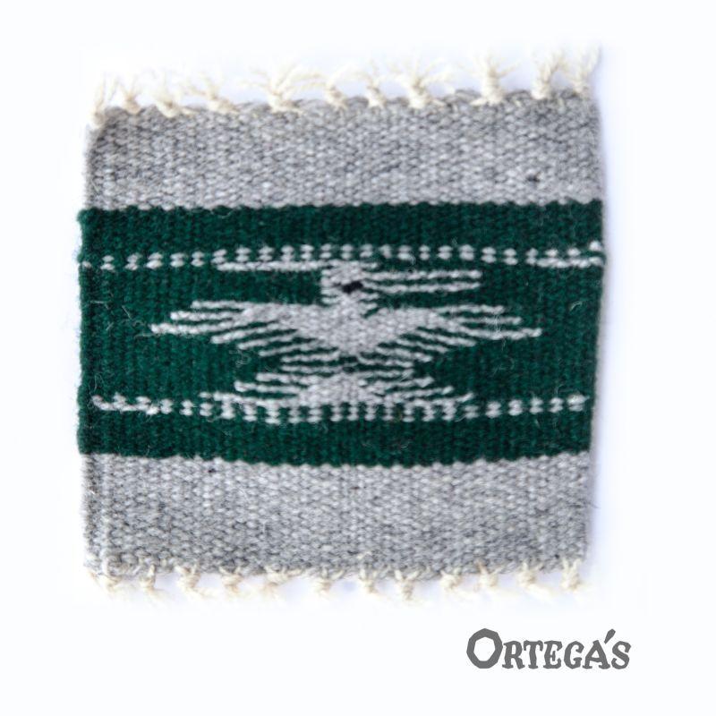 画像1: オルテガ ウール コースター サンダーバード グリーン・グレー(12cm×12cm)/Ortega's Wool Coasters
