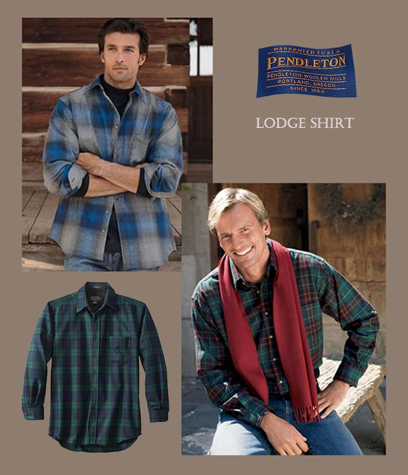 画像4: ペンドルトン ウールシャツ ロッジシャツ グレー・ブラックプラッドS/Pendleton Lodge Shirt