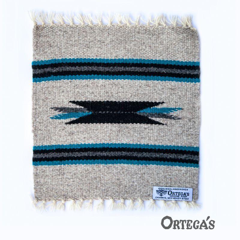 画像1: オルテガ 手織り 100%ウール ラグマット/Ortega's Place Mat