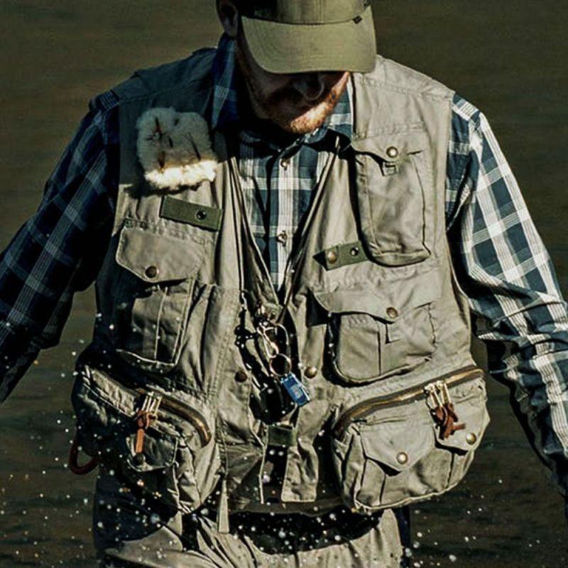 画像2: フィルソン ガイド ベスト(オリーブグリーン)/Filson Fly Fishing Guide Vest(Green)