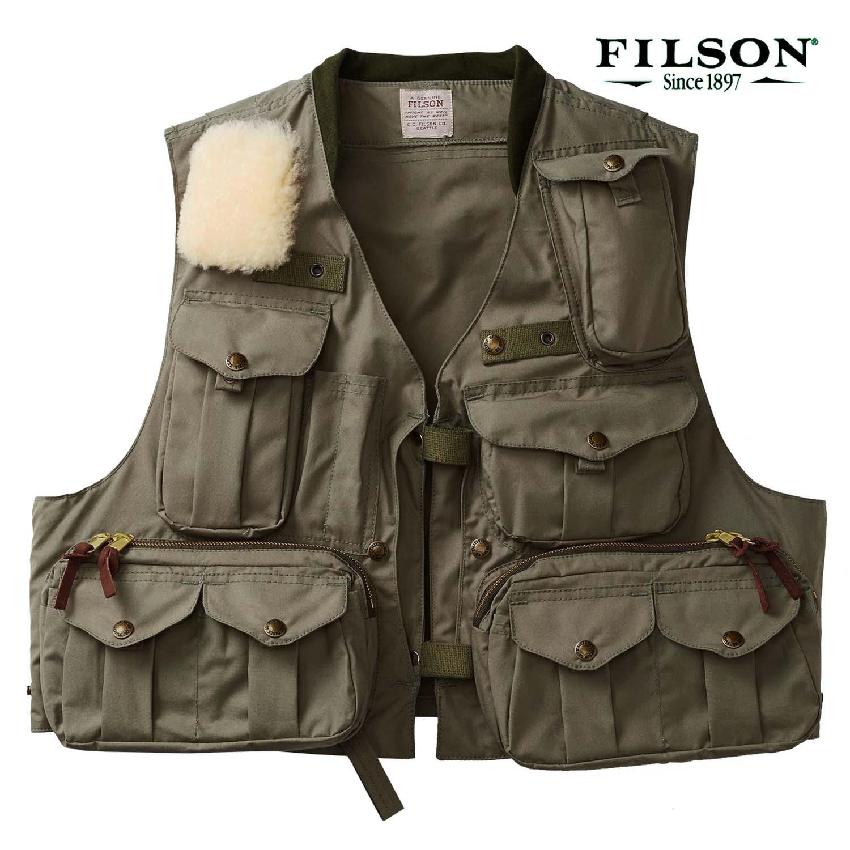 画像1: フィルソン ガイド ベスト(オリーブグリーン)/Filson Fly Fishing Guide Vest(Green) (1)