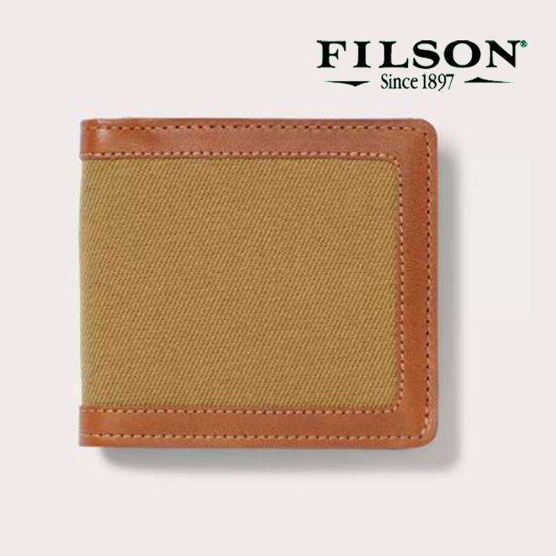 画像1: フィルソン ラギット ツイル パッカー ウォレット(タン)/Filson Rugged Twill Packer Wallet(Tan)