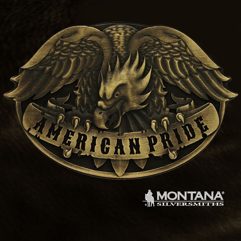 画像1: モンタナシルバースミス アメリカンプライド イーグル ベルト バックル/Montana Silversmiths Belt Buckle