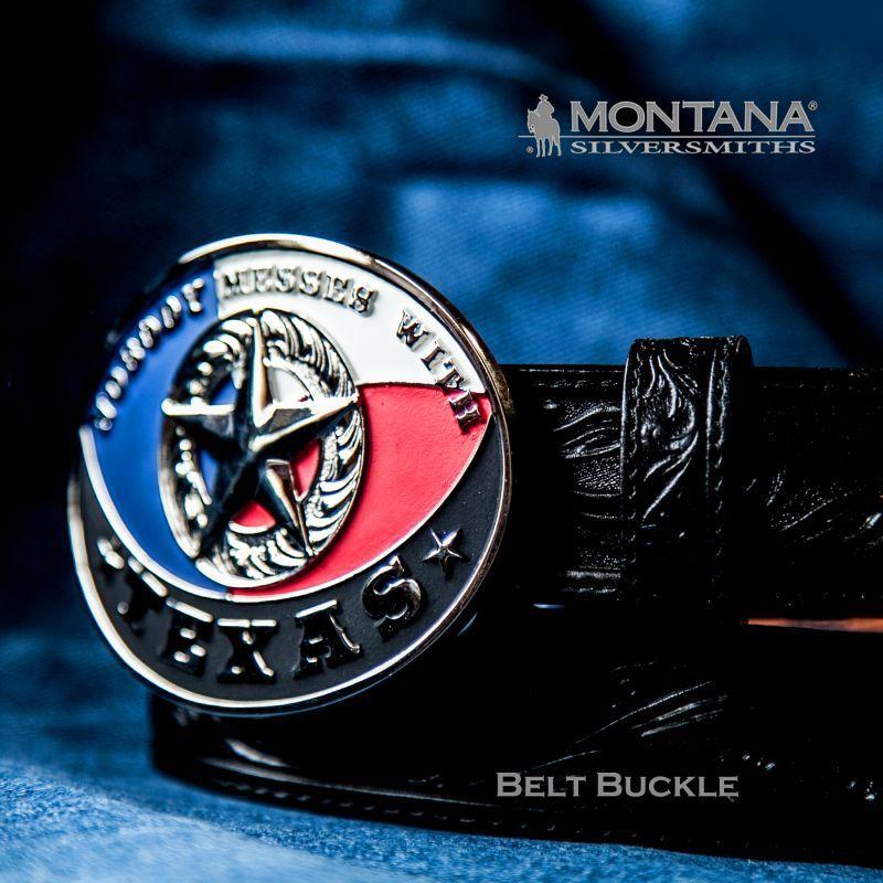 画像1: モンタナシルバースミス テキサススター ウエスタン ベルト バックル/Montana Silversmiths Belt Buckle (1)