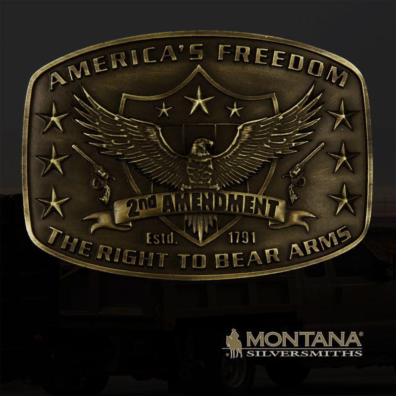 画像1: モンタナシルバースミス イーグル 2nd AMENDMENT ベルト バックル/Montana Silversmiths Belt Buckle