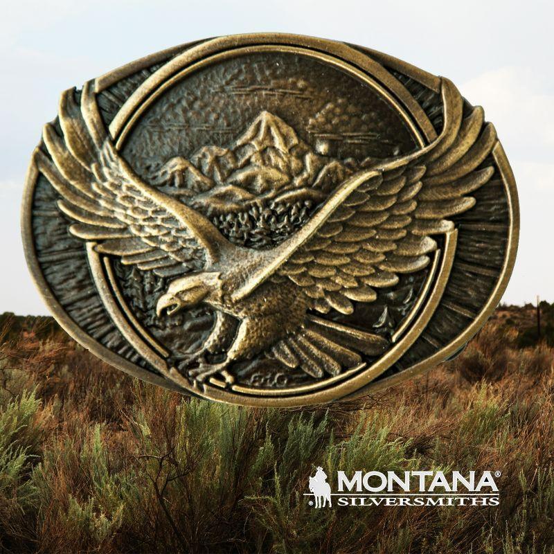 画像1: モンタナシルバースミス ソアリング イーグル ベルト バックル/Montana Silversmiths Belt Buckle
