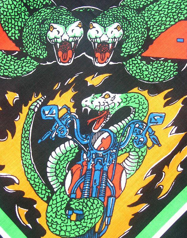画像3: ハーレーダビッドソン バンダナ(ブラック・Snake)/Harley Davidson Bandana
