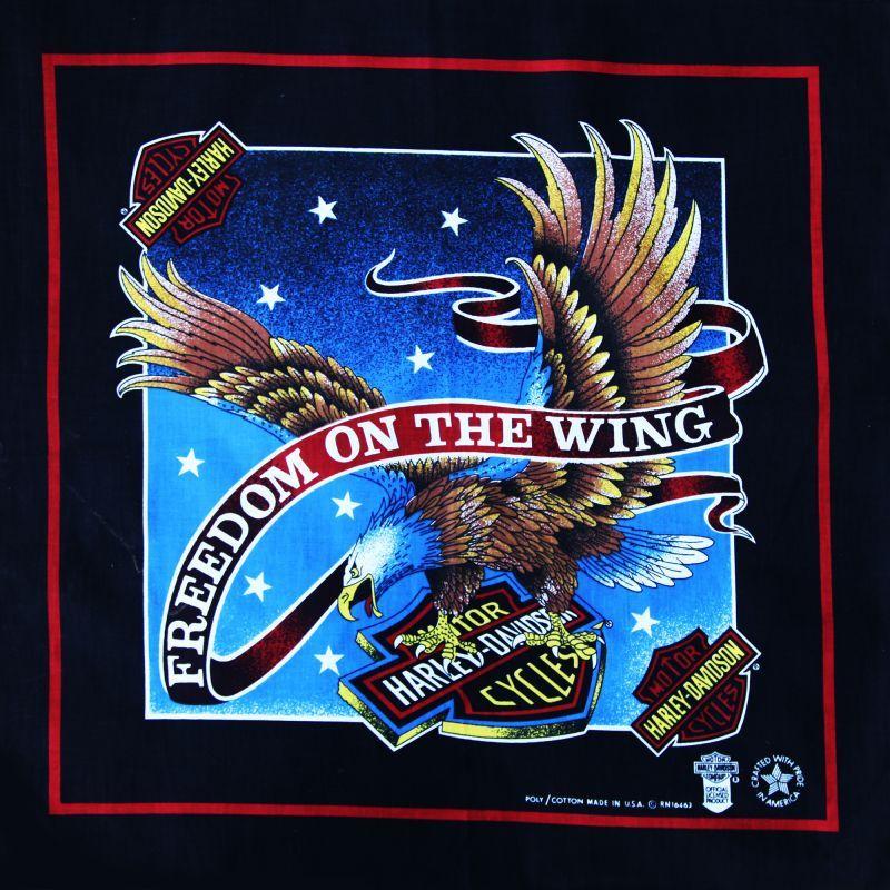 画像2: ハーレーダビッドソン バンダナ(ブラック・イーグル FREEDOM ON THE WING)/Harley Davidson Bandana