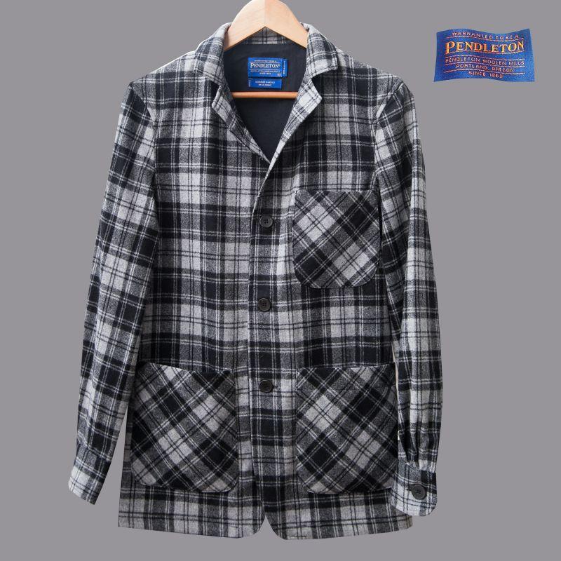 画像1: ペンドルトン バージンウール トップスター ジャケット(グレー)フィッテッドXS/Pendleton Topster Jacket(Douglas Grey Tartan) (1)