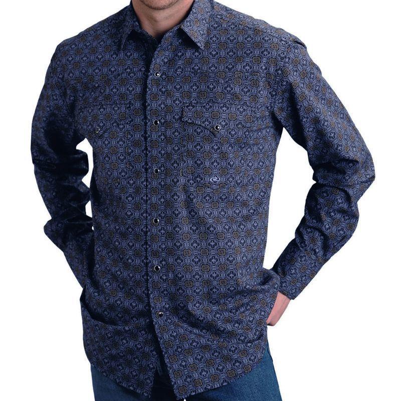 画像1: ローパー イーグル メダリオン ウエスタンシャツ(ブラック)S/Roper Long Sleeve Western Shirt