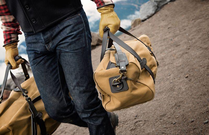画像2: フィルソン スモールダッフル(タン)/Filson Small Duffle Bag(Tan)