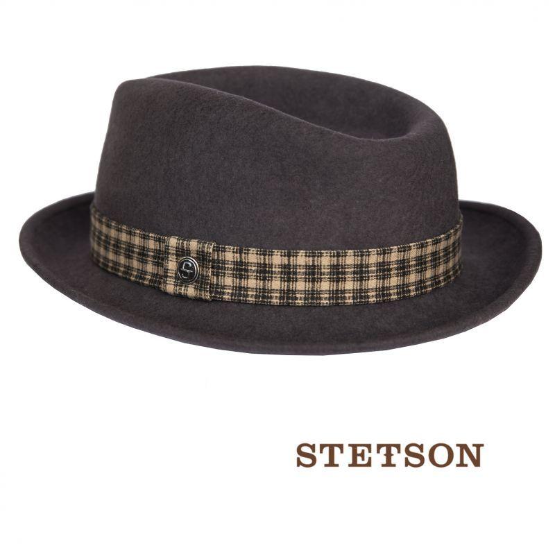 画像1: ステットソン ウール フェドラ ハット(グレー)/Stetson Wool Fedora Hat