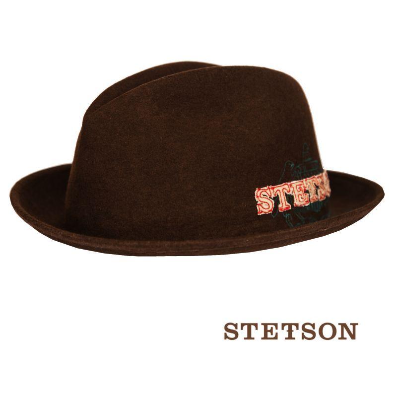 画像2: ステットソン ウール フェドラ ロゴハット(ブラウン)/Stetson Wool Fedora Hat(Brown)