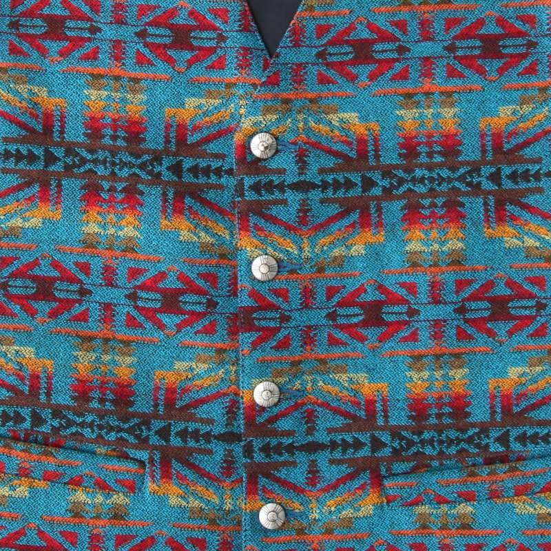 画像2: ペンドルトン U.S.A ヴァ-ジン ウール ベスト(ターコイズ・レッド)L/Pendleton U.S.A Virgin Wool Vest(Turquoise/Red)