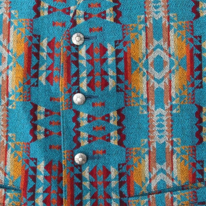 画像2: ペンドルトン U.S.A ヴァ-ジン ウール ベスト(ターコイズ)/Pendleton U.S.A Virgin Wool Vest(Turquoise)