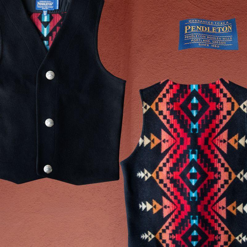画像1: ペンドルトン ジャパンサイズ ウールベスト(ブラック)jpS/Pendleton Wool Vest(Black) (1)