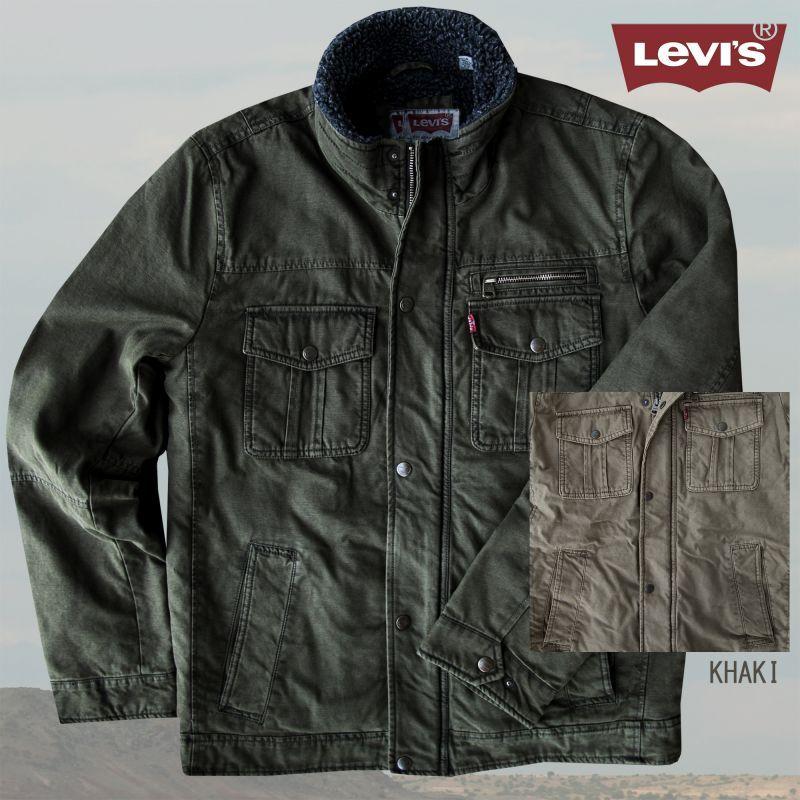 画像1: リーバイス トラッカー ジャケット(カーキ)S/Levi's Jacket(Khaki)