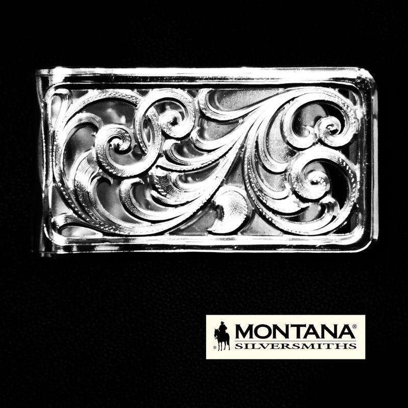 画像1: モンタナシルバースミス マネークリップ シルバー フィリグリー/Montana Silversmiths Money Clip Filigree scroll pattern