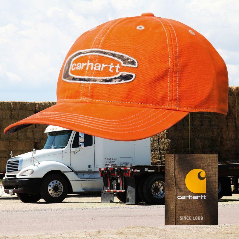 画像1: カーハート ロゴ キャップ(ブレイズオレンジ)/Carhartt Baseball Cap(Blaze Orange)