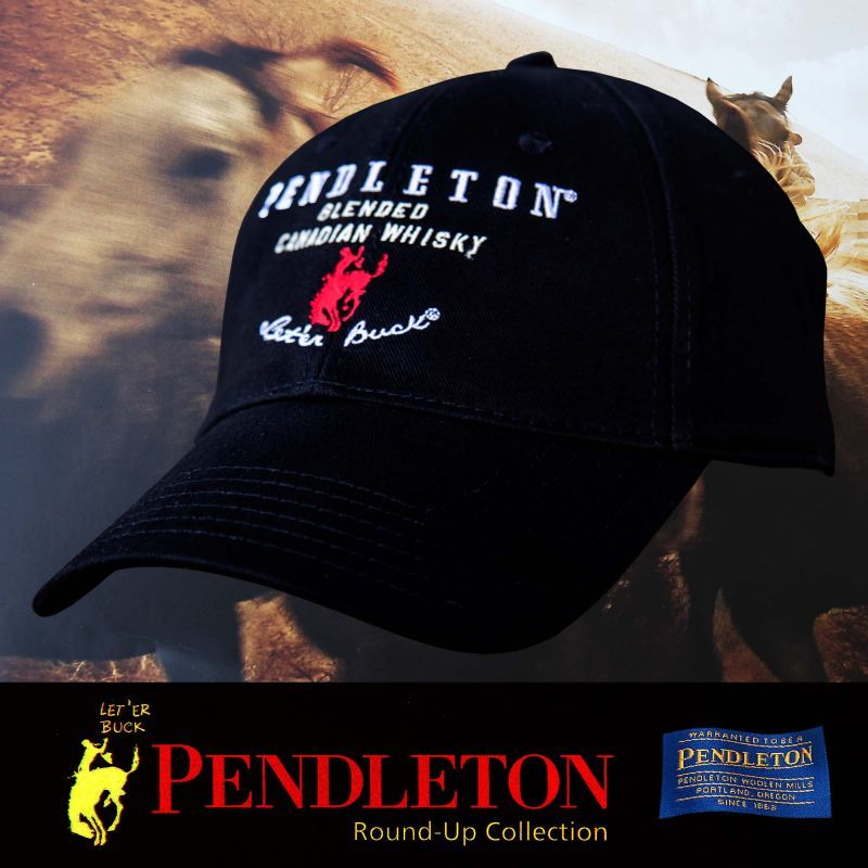 画像1: ペンドルトン ロデオ キャップ(ブラック)/Pendleton Round Up Whisky Cap(Black) (1)