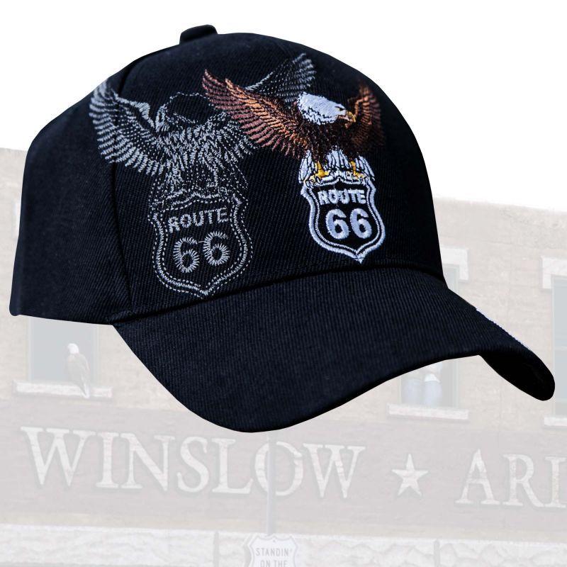 画像1: ルート66 イーグル キャップ/Route 66 Cap(Black)