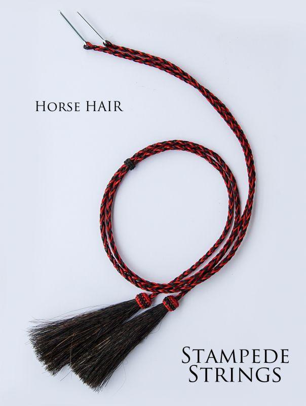 画像2: ホースヘアー スタンピード ストリングス レッド・ブラック(ハット用あごひも)/Horse Hair Stampede Strings
