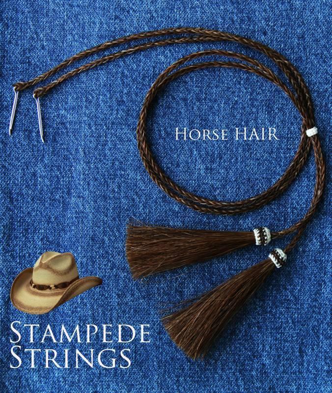 画像2: ホースヘアー スタンピード ストリングス ブラウン(ハット用あごひも)/Horse Hair Stampede Strings