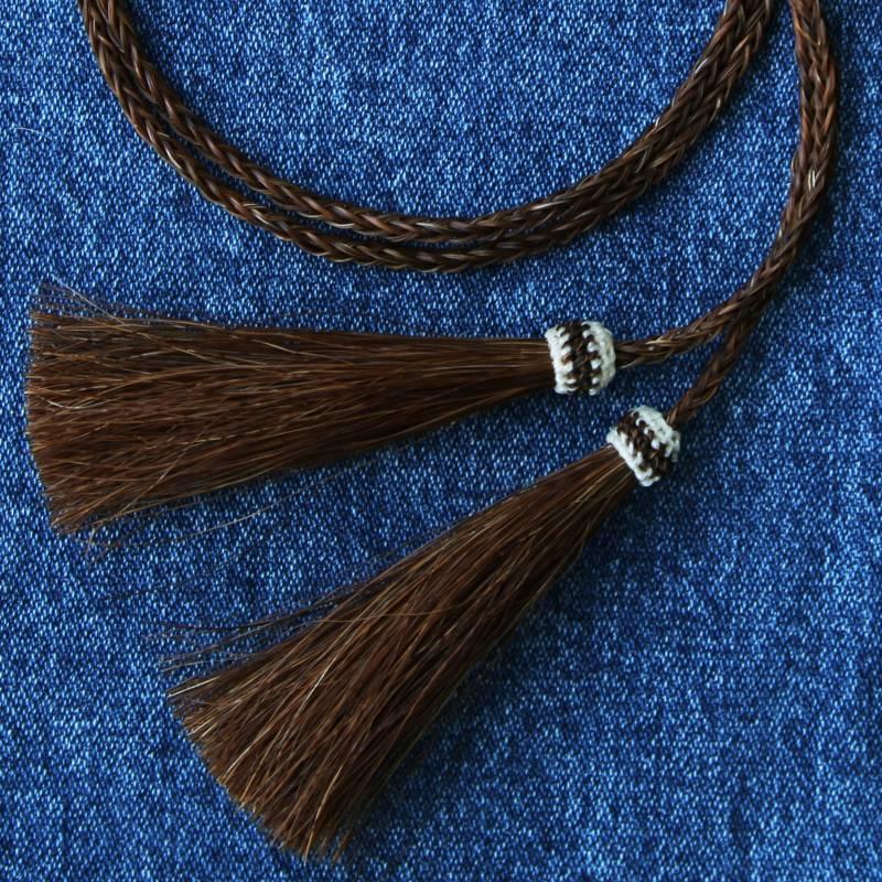 画像1: ホースヘアー スタンピード ストリングス ブラウン(ハット用あごひも)/Horse Hair Stampede Strings