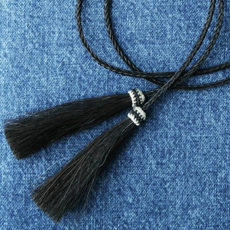 画像1: ホースヘアー スタンピード ストリングス ブラック(ハット用あごひも)/Horse Hair Stampede Strings