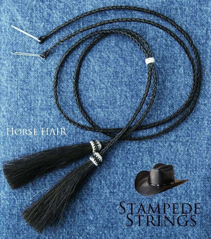 画像2: ホースヘアー スタンピード ストリングス ブラック(ハット用あごひも)/Horse Hair Stampede Strings