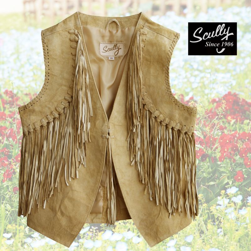 画像1: スカリー ウエスタン フリンジ ベスト(シャミー)/Scully Western Fringe Vest(Women's) (1)
