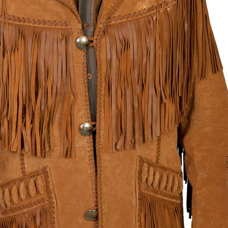 画像4: ウエスタン レザーフリンジジャケット(ブラック)/Western Leather Fringe Jacket