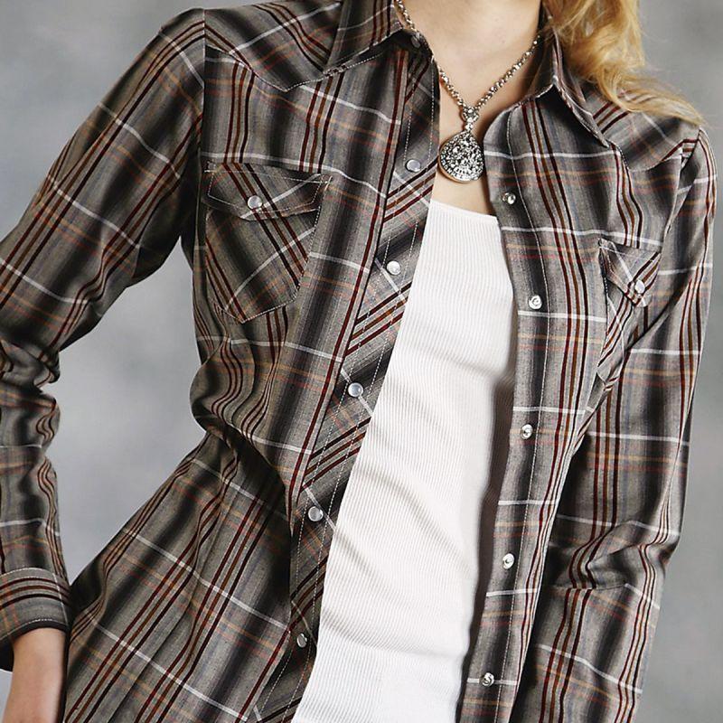 画像1: ローパー ウエスタンシャツ マルチ(長袖/レディース)/Roper Long Sleeve Western Shirt(Women's)