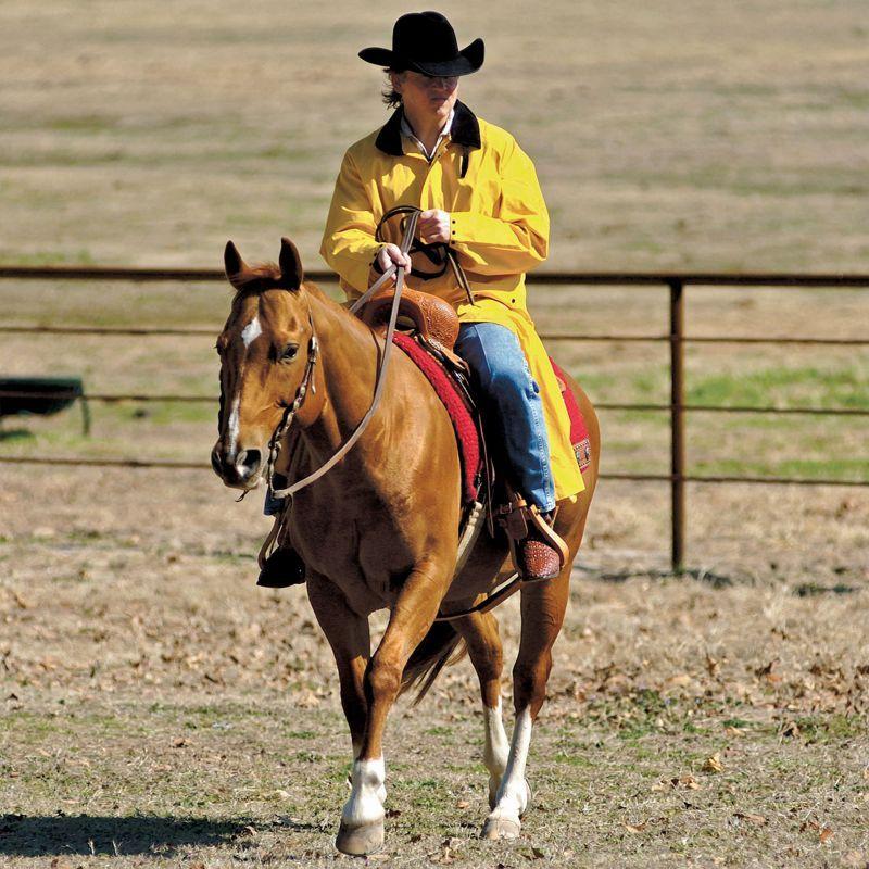 画像2: サドルスリッカー・乗馬用レインコート(イエロー)/M&F Western Products Double S Saddle Slicker(Yellow)