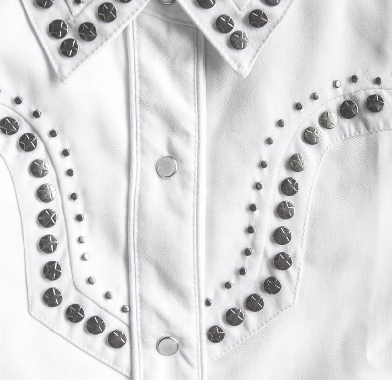 画像2: スカリー スタースタッズ ウエスタン シャツ(長袖/ホワイト)XS/Scully Long Sleeve Western Shirt(Women's)