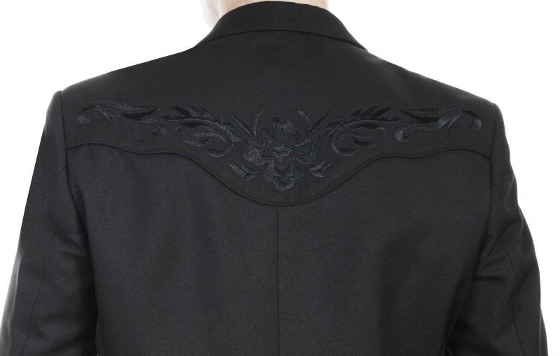 画像3: スカリー フローラル刺繍 ウエスタン ジャケット・ブレザー(ブラック)/Scully Floral Embroidery Blazer(Black)