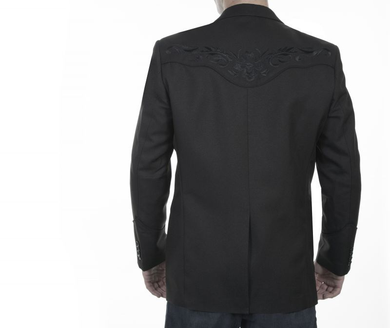 画像4: スカリー フローラル刺繍 ウエスタン ジャケット・ブレザー(ブラック)/Scully Floral Embroidery Blazer(Black)