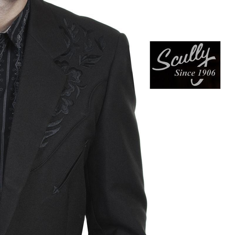 画像2: スカリー フローラル刺繍 ウエスタン ジャケット・ブレザー(ブラック)/Scully Floral Embroidery Blazer(Black)