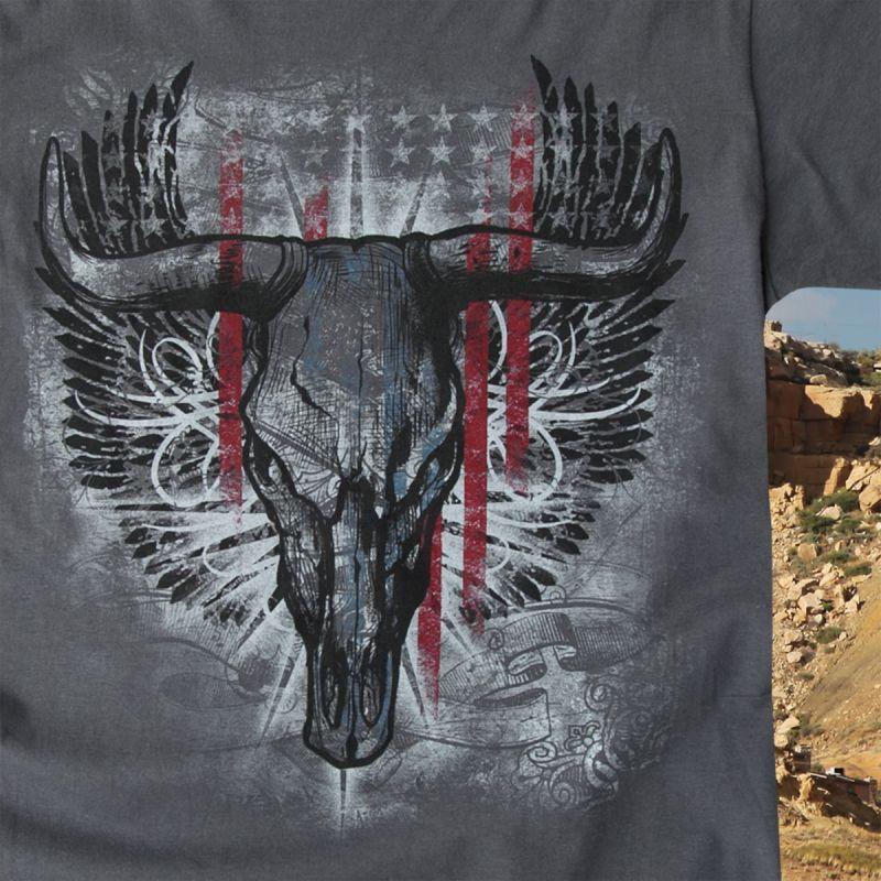画像2: ラングラー ロック47 ウエスタン Tシャツ ロングホーン(半袖)/Wrangler Rock 47 T-shirt