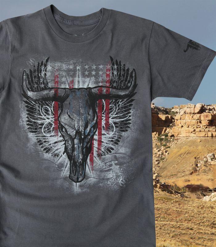 画像3: ラングラー ロック47 ウエスタン Tシャツ ロングホーン(半袖)/Wrangler Rock 47 T-shirt