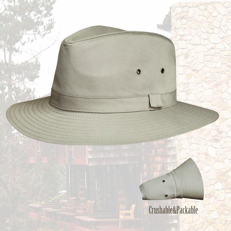 画像1: クラッシャブル&パッカブル サファリ ハット( カーキ)/Safari Hat (1)