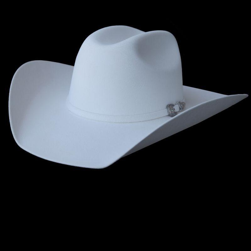画像1: ブルハイド ファーブレンド フェルト ハット(ホワイト)/Bullhide Fur Blend Felt Hat