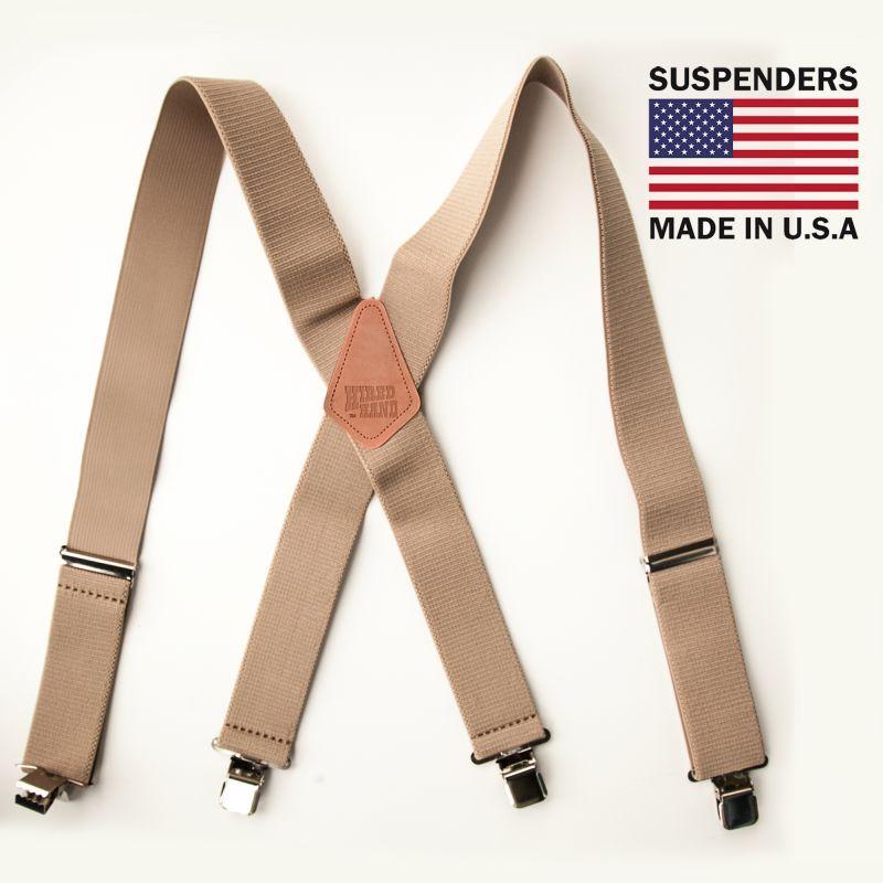 画像1: サスペンダー クリップ式(タン)/M&F Western Products Clip Suspenders(Tan)