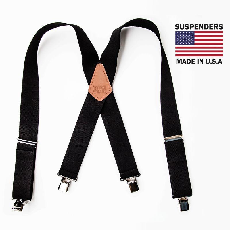画像1: サスペンダー クリップ式(ブラック)/M&F Western Products Clip Suspenders(Black)